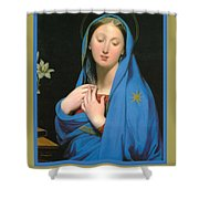 Virgin Of The Adoption Poster Shower Curtain