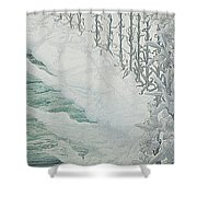 Virgin Of The Lilies Shower Curtain
