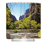 Virgin River In Zion National Park Shower Curtain