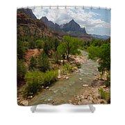 Virgin River Through Zion National Park Shower Curtain