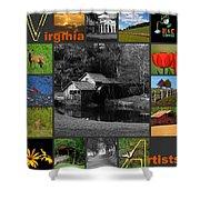 Virginia Artist  Shower Curtain