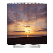 Virginia Beach Sunrise Shower Curtain