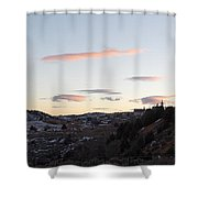 Virginia City Clouds  Shower Curtain