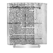 Virginia: Constitution Shower Curtain
