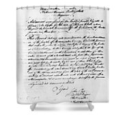 Virginia Council, 1778 Shower Curtain