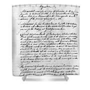 Virginia Council Of State Shower Curtain