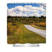 Yesterday - Virginia Country Road Shower Curtain