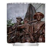 Virginia Memorial At Gettysburg Shower Curtain