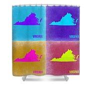 Virginia Pop Art Map 2 Shower Curtain