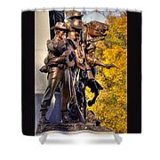 Virginia To Her Sons At Gettysburg - War Fighters - Band Of Brothers 1a Shower Curtain