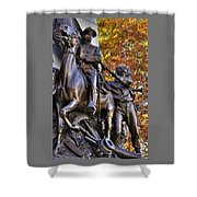 Virginia To Her Sons At Gettysburg - War Fighters - Band Of Brothers 1b Shower Curtain