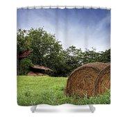 Virginia Tobacco Barn Shower Curtain