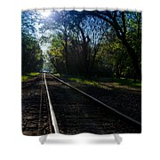Virginius Island Tracks Shower Curtain