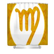 Virgo And Solar Chakra Abstract Spiritual Artwork By Omaste Witk Shower Curtain