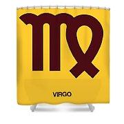 Virgo Zodiac Sign Brown Shower Curtain