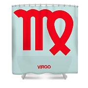 Virgo Zodiac Sign Red Shower Curtain