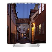 Visby Evening  Shower Curtain