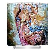 Vishwamitra Menaka Shower Curtain