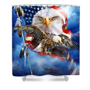 Vision Of Freedom Shower Curtain