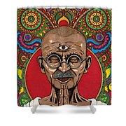 Visionary Gandhi Shower Curtain