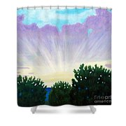 Visionary Sky Shower Curtain by Brian  Commerford
