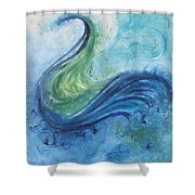 Peacock Vision In The Mist Shower Curtain