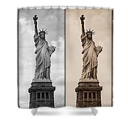 Visions Of Liberty Shower Curtain