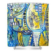 Visions Of Perceptive Elements Shower Curtain