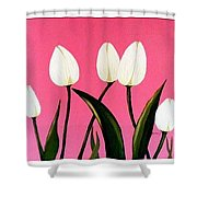 Visions Of Springtime - Abstract - Triptych Shower Curtain