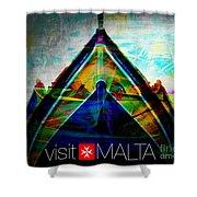 Visit Malta Shower Curtain