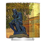 Visit To The Thinker Shower Curtain