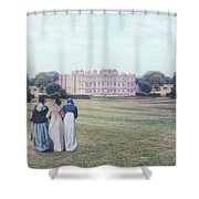 visiting Mr Darcy Shower Curtain by Joana Kruse