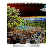 Visiting Rimrock In Spokane Shower Curtain