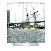 Visiting Ship Shower Curtain