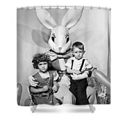 Visiting The Easter Bunny Shower Curtain