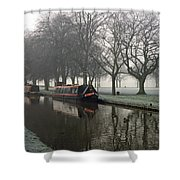 Visitor Moorings Beside Shobnal Fields Shower Curtain
