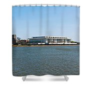 Visitors At Old Georgetown Waterfront Shower Curtain
