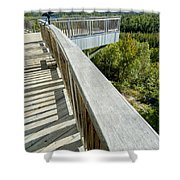 Visitor's Center Lookout Shower Curtain