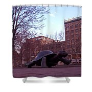 Visitors - Copley Square Shower Curtain