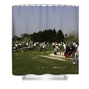 Visitors Having A Good Time At The Blair Drummond Safari Park Shower Curtain