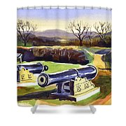 Visitors Welcome At Fort Davidson Shower Curtain