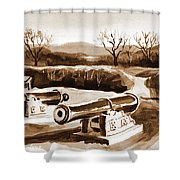 Visitors Welcome In Sepia Shower Curtain