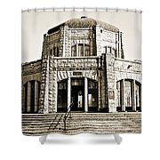 Vista House - Sepia Shower Curtain