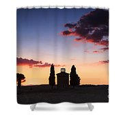 Vitaleta Chapel - Tuscany - Italy Shower Curtain