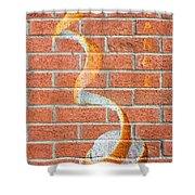 Vitamin C Wall Shower Curtain