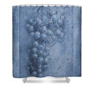 Vitis Cyanotype Shower Curtain