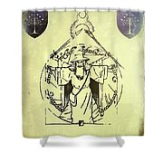 Vitruvian Gandalf The White Shower Curtain
