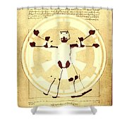 Vitruvian Stormtrooper Ghost Shower Curtain