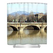 Vittorio Emanuele I Bridge Shower Curtain