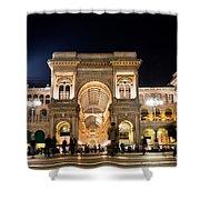 Vittorio Emanuele II Gallery Shower Curtain by Michal Bednarek